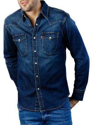 Levi's Barstow Western Standard Shirt modern stretch dark