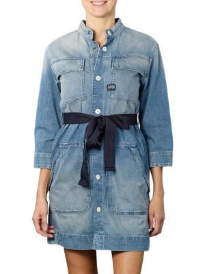 G-Star Shirt Dress vintage marine blue