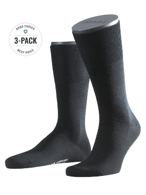 Falke 3-Pack Airport black