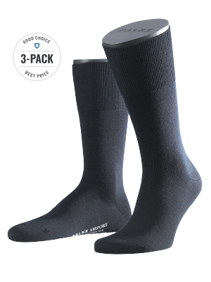 Falke 3-Pack Airport dark navy