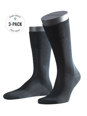 Falke 3-Pack Tiago black