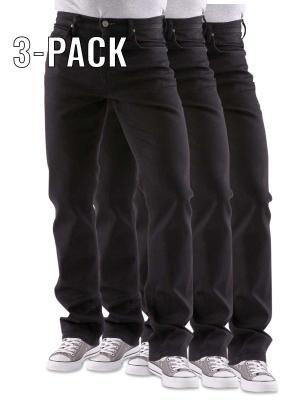 Lee Brooklyn Jeans clean black 3-Pack
