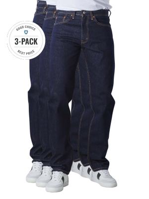 Levi's 505 Jeans Straight Fit rinse 3-Pack