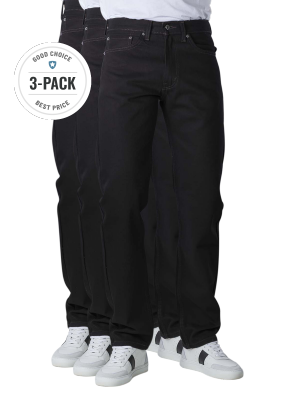 Levi's 505 Jeans Straight Fit black 3-Pack