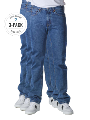 Levi's 505 Jeans Straight Fit stonewash 3-Pack