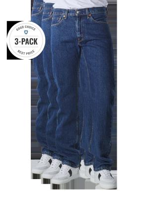 Levi's 505 Jeans Straight Fit dark stonewash 3-Pack