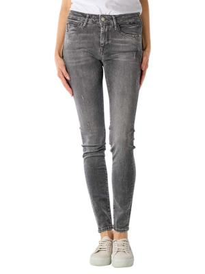 Mavi Adriana Jeans Skinny dark grey distressed glam