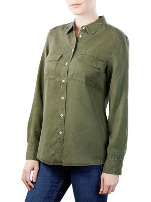 Marc O'Polo Blouse Kent Collar soaked moss