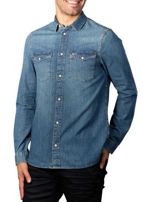 Tommy Jeans Western Denim Shirt mid indigo