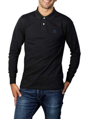 Gant Contrast Collar Pique LS Rugger Polo black