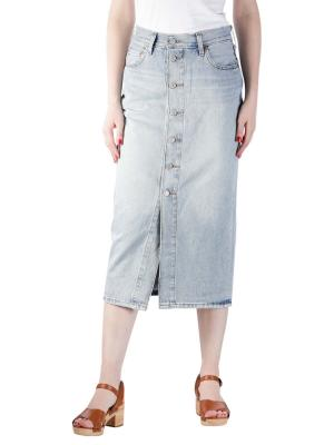 Levi's Button Front Midi Skirt blue cell