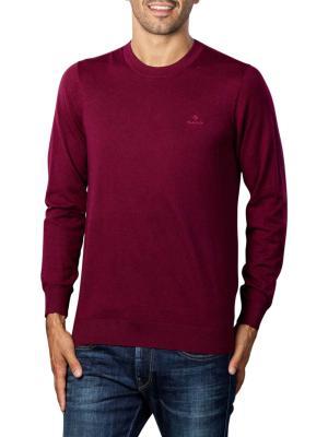 Gant D1 Cotton Cashmere Crew Pullover dark burgundy mel