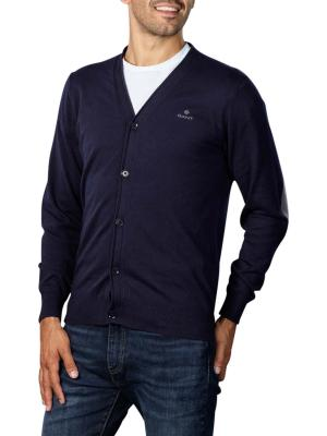 Gant D1 Elbow Patch Cardigan evening blue
