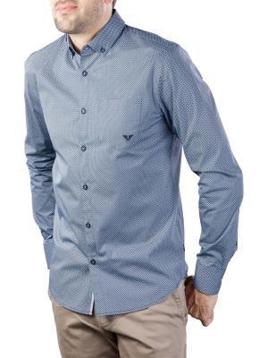 PME Legend Long Sleeve Shirt poplin with all-over print