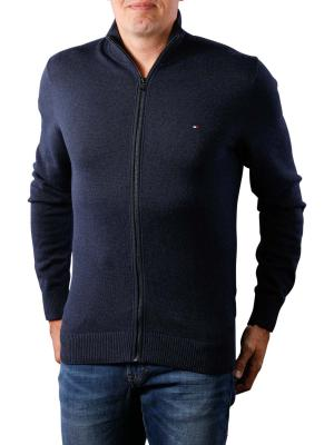 Tommy Hilfiger Pima Cotton Cashmere Zip sky captain htr