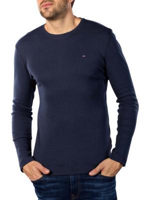 Tommy Jeans Original Rib T-Shirt black iris