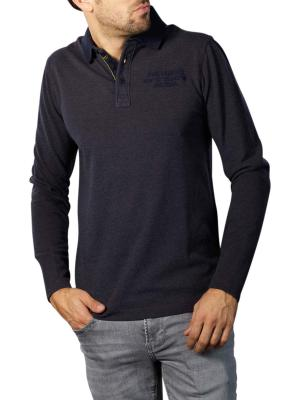 PME Legend Long Sleeve Polo Fine Three Tone