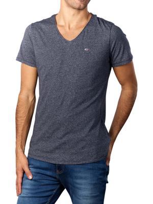 Tommy Jeans T-Shirt Slim Jaspe V Neck twilight navy