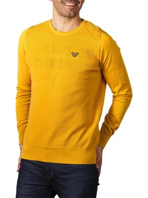 PME Legend Crew Neck Strukture Knit sand