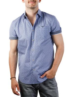 Vanguard Short Sleeve Shirt print on poplin stretch 5054