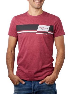 Pepe Jeans Kade T-Shirt Crew Neck Printed currant