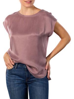 Yaya T-Shirt Rounded Hems mauve