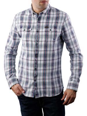 PME Legend Long Sleeve Shirt Indigo Check 590