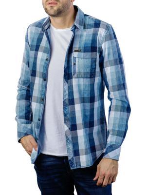 PME Legend Long Sleeve Shirt Yarndye indigo check