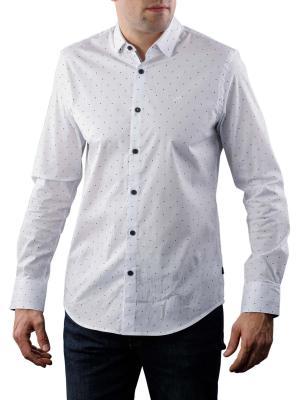 PME Legend Long Sleeve Shirt Poplin Print white