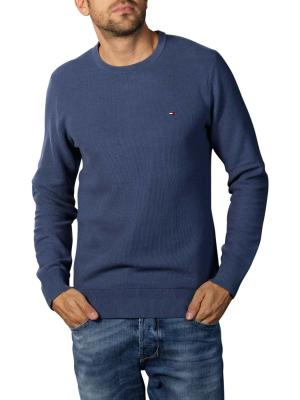 Tommy Hilfiger Honeycomb Sweater Crew Neck faded indigo
