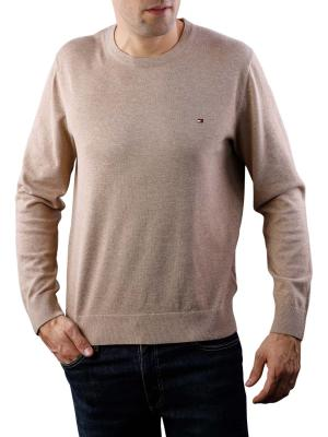 Tommy Hilfiger Cotton Silk Crewneck batique khaki heather