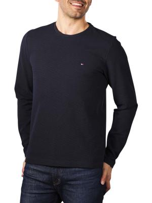 Tommy Hilfiger Waffle Long Sleeve T-Shirt desert sky