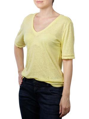 Yaya Linen V-Neck T-Shirt lemon