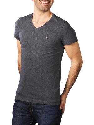 Tommy Hilfiger Stretch Slim T-Shirt black heather