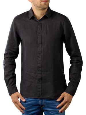Scotch & Soda Linen Shirt Regular black