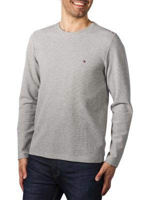 Tommy Hilfiger Waffle Long Sleeve T-Shirt medium grey