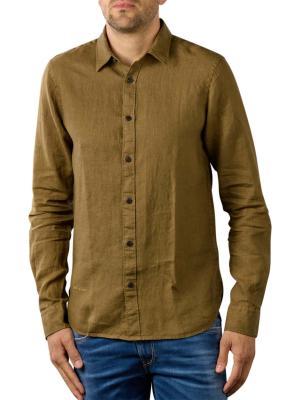 Scotch & Soda Linen Shirt Regular khaki