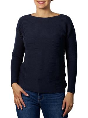 Yaya Cotton Sweater blue nights