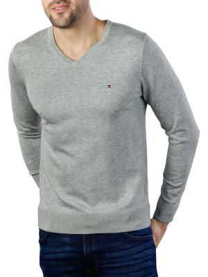 Tommy Hilfiger Core Cotton Silk V-Neck Pullover cloud htr