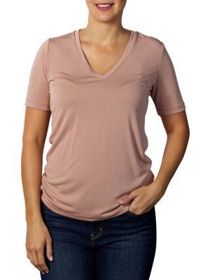 Yaya Modal V-Neck T-Shirt faded pink