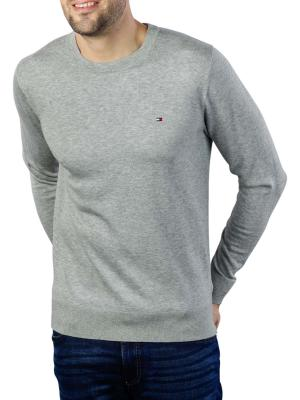 Tommy Hilfiger Core Cotton Silk Crew Pullover cloud htr