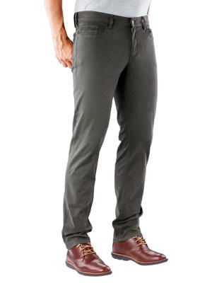Alberto Pipe Pant Slim DS Broken Twill dark green