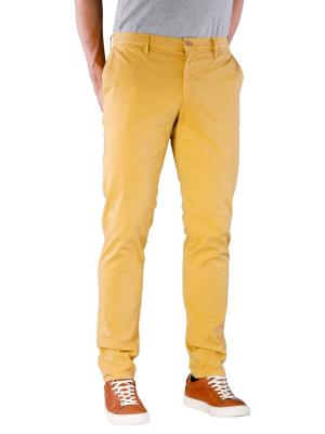 Alberto Rob Pant Straight Broken Twill yellow