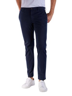 Alberto Rob Pants Slim Broken Twill navy
