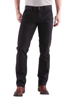Alberto Lou Pant compact cotton black