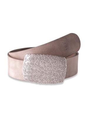 Claudette Silver taupe 45mm by BASIC BELTS