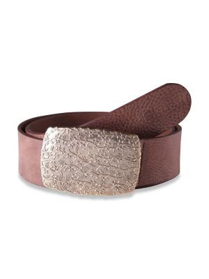 Claudette Gold dark brown 45mm by BASIC BELTS