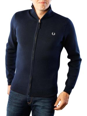 Fred Perry Twin Tipped Zip Thru Cardigan deep carbon