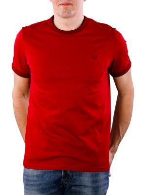 Fred Perry Ringer T-Shirt rich red