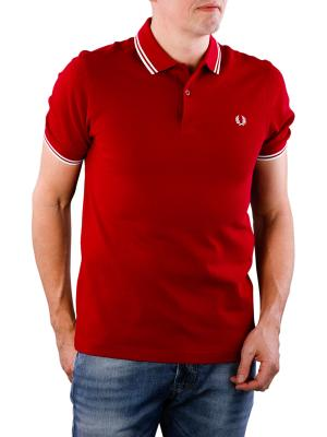 Fred Perry Twin Tipped Shirt claret